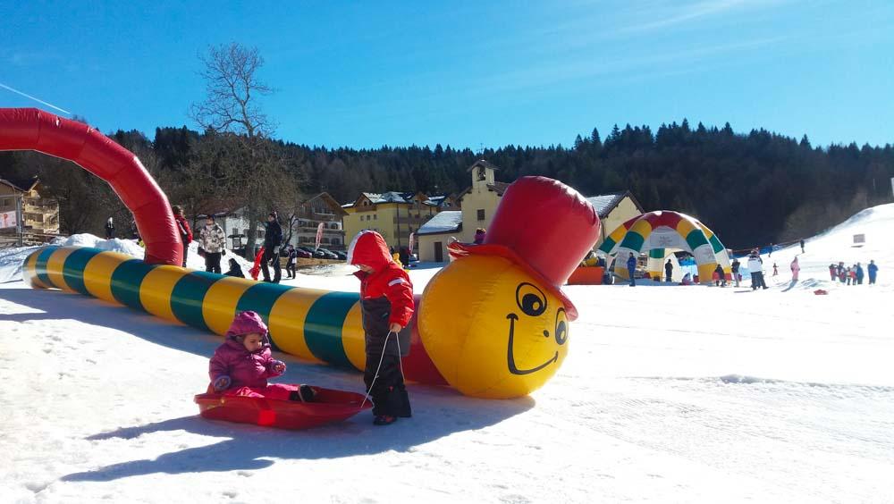 neverland lavarone neve bambini