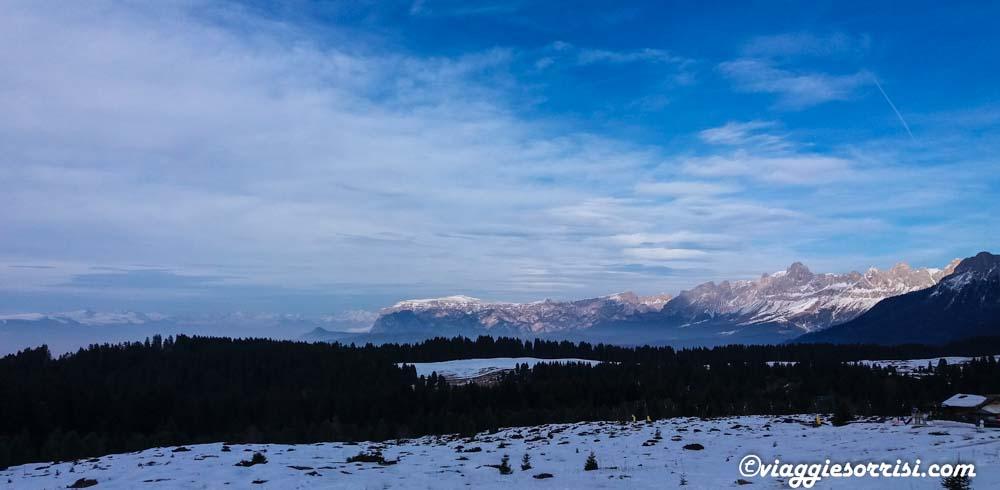 Passo Lavaze panorama neve