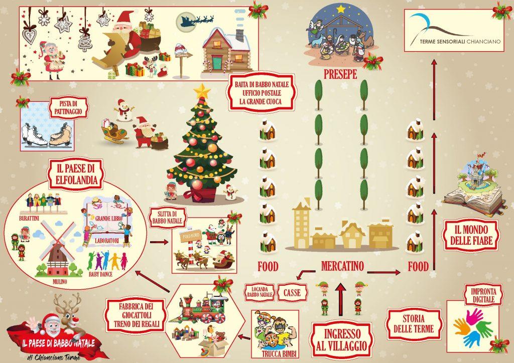 Babbo Natale Mappa.Mappa Paese Di Babbo Natale Viaggi E Sorrisi