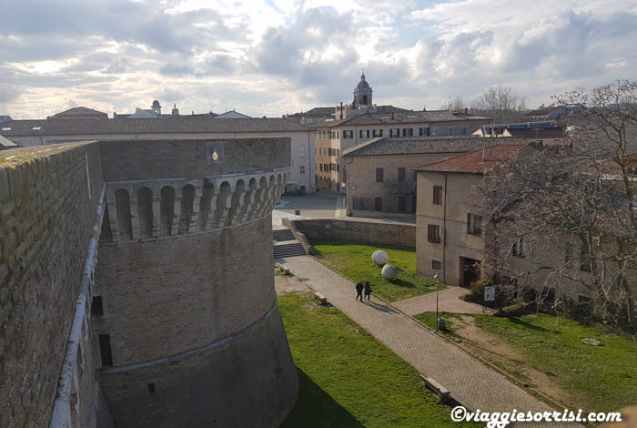 Panorama dall'alto della Rocca di Senigallia