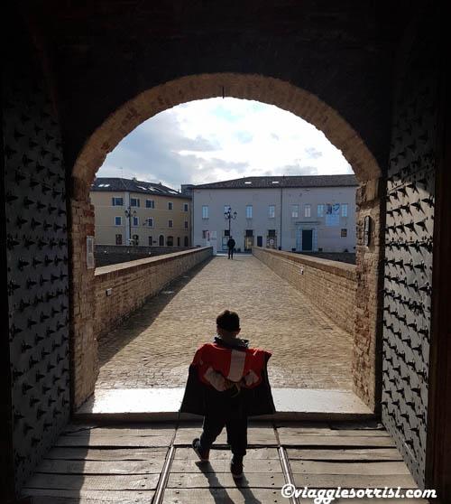 La porta d'ingresso alla Rocca Roveresca di Senigallia