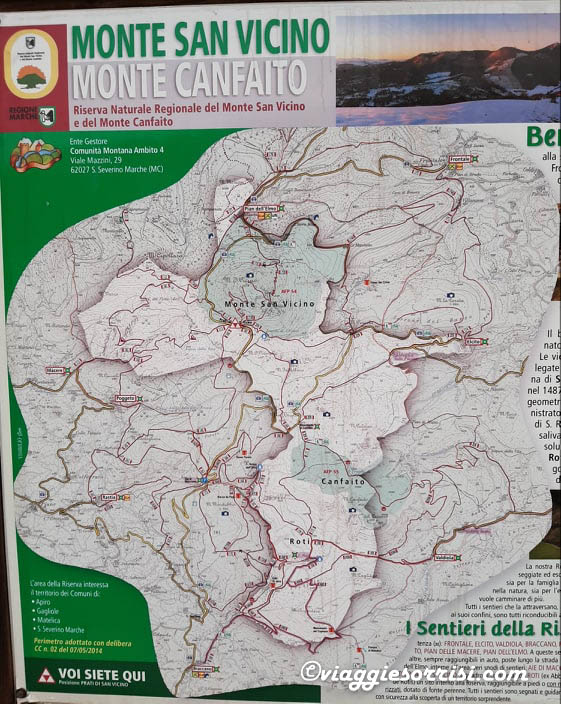 mappa dei sentieri monte san vicino