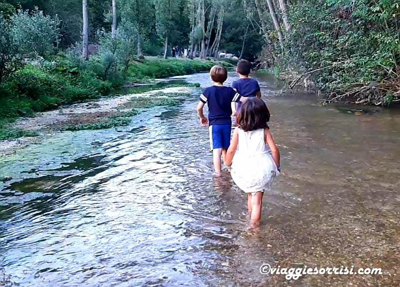 percorso kneipp fiume incantato