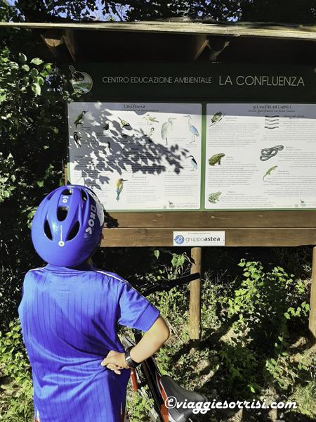percorso ciclabile girardengo campocavallo di osimo cartelli
